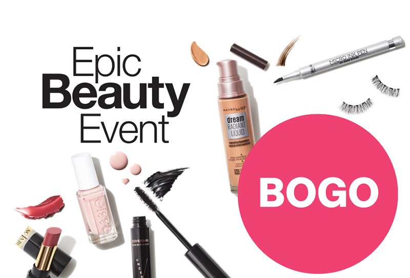 Epic beauty event. Shots of various makeup products.