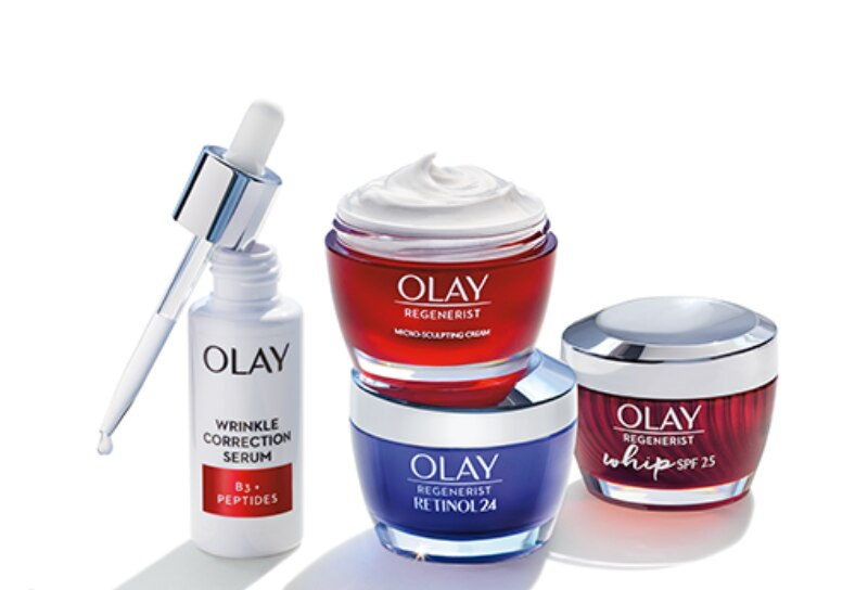 Various Olay products.
