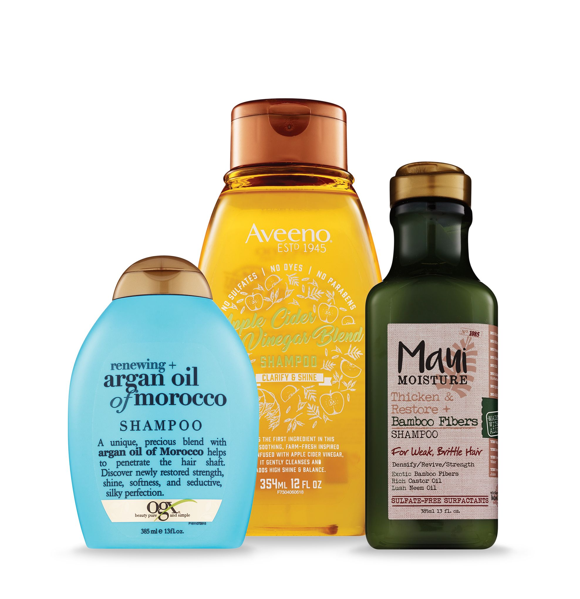 Shop for selectOGX, Maui Moisture or Aveeno products.