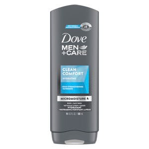 Dove Men+Care Clean Comfort Body and Face Wash, 18 OZ