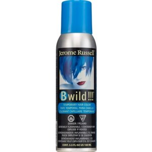 Jerome Russell B Wild!!! Temporary Hair Color Spray, Bengal Blue