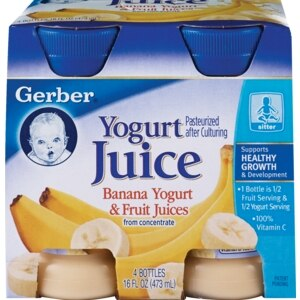 Gerber Yogurt Juice Banana Yogurt & Fruit Juices