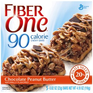 Fiber One 90 Calorie Chewy Bars Chocolate Peanut Butter