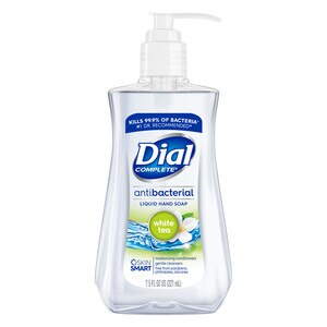 Dial Antibacterial Hand Soap with Moisturizer, White Tea and Vitamin E