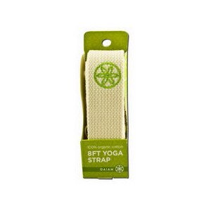 Gaiam Straps & Carriers, Organic Cotton Yoga Strap 8ft