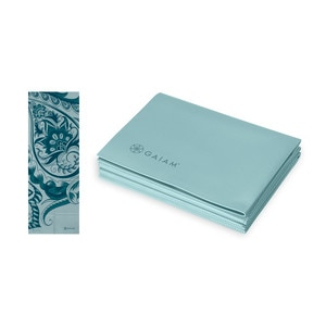 Gaiam Foldable Yoga Mat - Icy Paisley