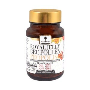 BEE&YOU Royal Jelly Bee Pollen Propolis Tablet Ultra Strength, 1.05 OZ