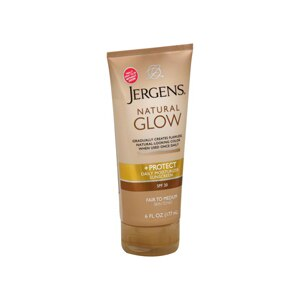 Jergens Natural Glow +Protect Daily Moisturizer Sunscreen SPF 20, Fair to Medium Skin Tones