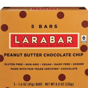 Larabar Peanut Butter Chocolate Chip Fruit & Nut Bars, 5CT