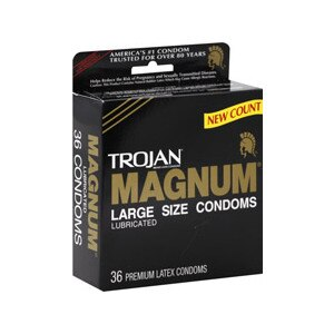 Trojan Magnum Condoms Large Lubricated Latex