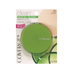 CoverGirl Clean Pressed Powder for Sensitive Skin Fragrance-Free Buff Beige 225