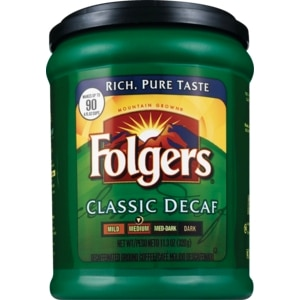 Folgers Classic Decaf Ground Coffee Medium