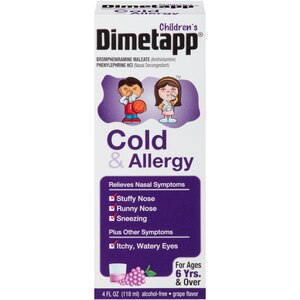 Dimetapp Cold & Allergy For Children Grape Flavor