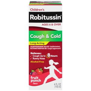 Children's Robitussin Cough & Cold Long-Acting Fruit Punch Flavor