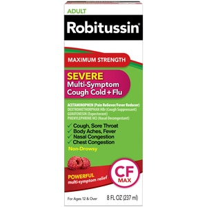 Robitussin Adult Severe Multi-Symptom Cough Cold Flu Liquid