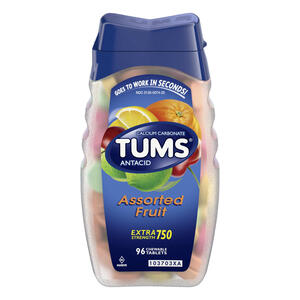 TUMS Antacid Chewable Tablets, Extra Strength for Heartburn Relief
