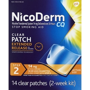 Nicoderm Cq 14mg Clear Patches Step 2