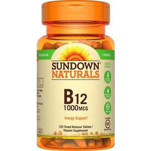 Sundown Naturals High Potency B-12 Tablets 1000 mcg