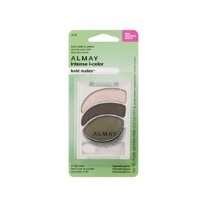 Almay Intense I-Color Eyeshadow Powder, Bold Nudes for Greens 414