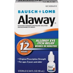 Bausch & Lomb Alaway Allergy Eye Itch Relief, 0.34 OZ