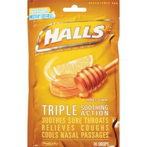 Halls Mentho-Lyptus Drops Honey-Lemon
