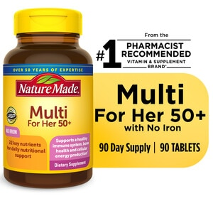 Nature Made Multi For Her 50+ - Tabletas, 90 u.