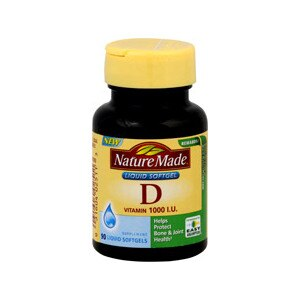Nature Made Vitamin D 1000 IU Liquid Softgels