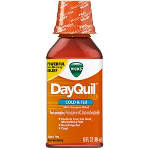 Vicks DayQuil Cold & Flu Relief Liquid, 12 OZ