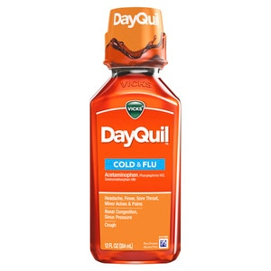 Vicks DayQuil Multi-Symptom Relief Cold & Flu Liquid, 12.0 OZ