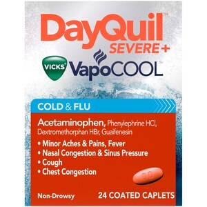 Vicks DayQuil Severe Cold & Flu Relief Caplets, 24CT