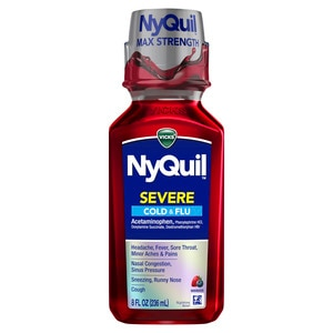 Vicks NyQuil Severe Cold & Flu Nighttime Relief Flavor Liquid
