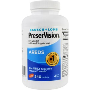 Bausch & Lomb PreserVision Eye Vitamin and Mineral Supplement Tablets