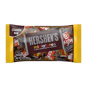 Hershey's Miniatures Chocolate Candy Assortment, 12 OZ