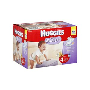 Huggies Little Movers Diapers Size 4 (22-37 lb)