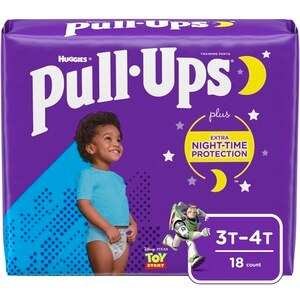 Pull-Ups Training Pants, Night Time for Boys, 3T-4T, 20CT