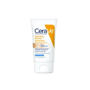 CeraVe Tinted Sunscreen for Face SPF 30, Mineral Sunscreen, 1.7 OZ