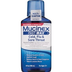 Mucinex Fast-Max Cold, Flu & Sore Throat Liquid