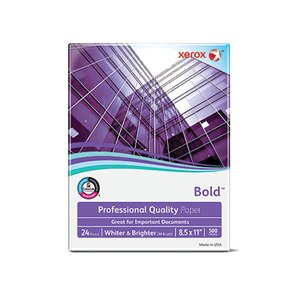 "Xerox Bold Professional Quality Paper,  8 1/2"" x 11"", 24 Lb., 98 Bright"