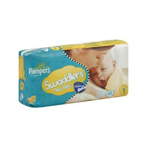 Pampers Swaddlers New Baby Diapers Size 1 8-14 Lbs