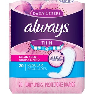 Always Thin Pantiliners Regular Clean Fresh Scent