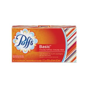 Puffs Basic Facial Tissue Non-Lotion White