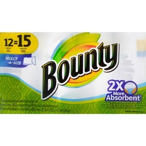 Bounty Select-A-Size Paper Towel Rolls, 12 CT