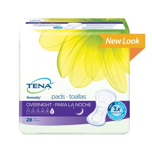 TENA Serenity Overnight Pads Ultimate Absorbency Full Coverage