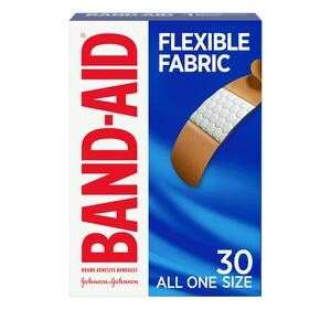 Band-Aid Flexible Fabric All One Size Adhesive Bandages, 30CT