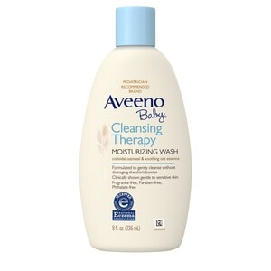 Aveeno Baby Cleansing Therapy Moisturizing Wash, 8 OZ