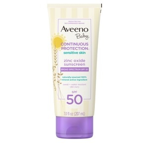 Aveeno Baby Continuous Protection Mineral Sunscreen, SPF 50, 7 fl. oz