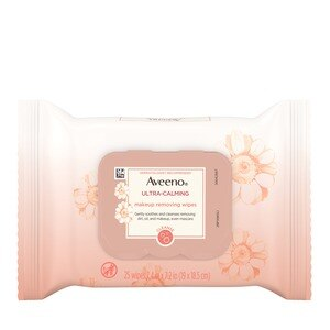 Aveeno Ultra-Calming Makeup Removing Wipes, 25/Pack