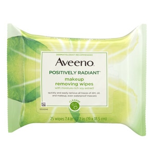 Aveeno Positively Radiant Daily Cleansing Pads, 25CT