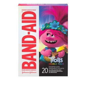Band-Aid Bandages, DreamWorks Trolls, Assorted Sizes, 20 CT