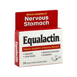 Equalactin Nervous Stomach Citrus Flavored Chewable Tablets